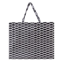 Expanded Metal Facade Background Zipper Large Tote Bag by Nexatart