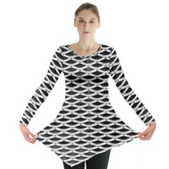 Expanded Metal Facade Background Long Sleeve Tunic