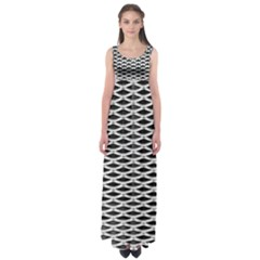 Expanded Metal Facade Background Empire Waist Maxi Dress