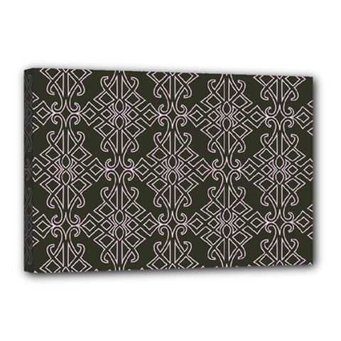 Line Geometry Pattern Geometric Canvas 18  X 12