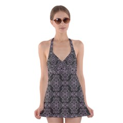 Line Geometry Pattern Geometric Halter Swimsuit Dress