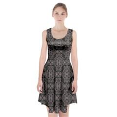 Line Geometry Pattern Geometric Racerback Midi Dress