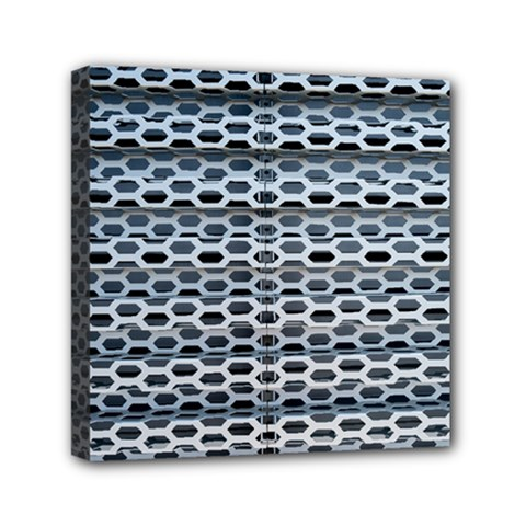 Texture Pattern Metal Mini Canvas 6  X 6  by Nexatart