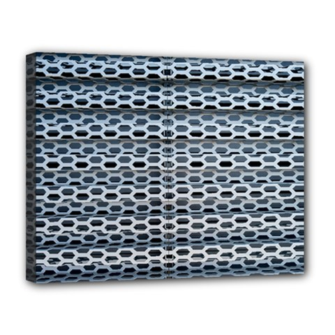 Texture Pattern Metal Canvas 14  X 11  by Nexatart