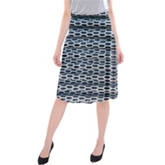 Texture Pattern Metal Midi Beach Skirt