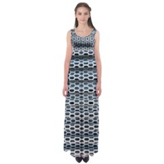 Texture Pattern Metal Empire Waist Maxi Dress