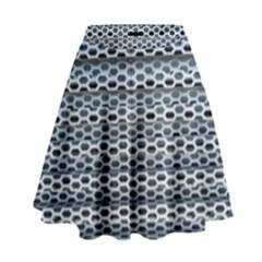 Texture Pattern Metal High Waist Skirt by Nexatart