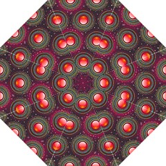 Abstract Circle Gem Pattern Straight Umbrellas by Nexatart