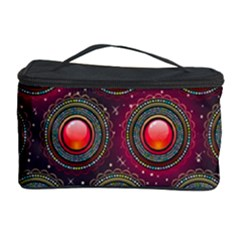 Abstract Circle Gem Pattern Cosmetic Storage Case by Nexatart