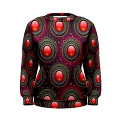 Abstract Circle Gem Pattern Women s Sweatshirt