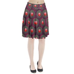 Abstract Circle Gem Pattern Pleated Skirt