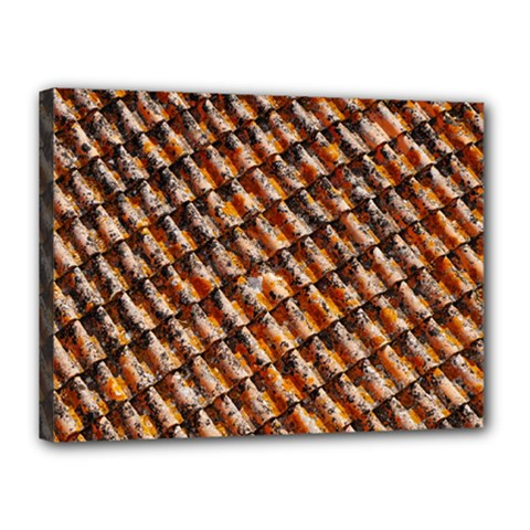 Dirty Pattern Roof Texture Canvas 16  X 12  by Nexatart