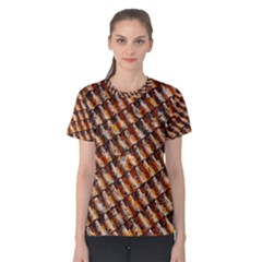 Dirty Pattern Roof Texture Women s Cotton Tee