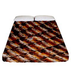 Dirty Pattern Roof Texture Fitted Sheet (king Size)