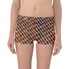 Dirty Pattern Roof Texture Boyleg Bikini Bottoms