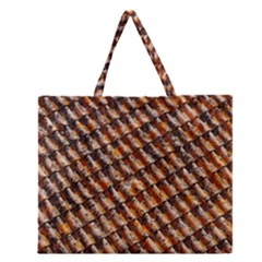 Dirty Pattern Roof Texture Zipper Large Tote Bag