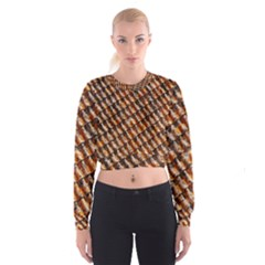 Dirty Pattern Roof Texture Cropped Sweatshirt