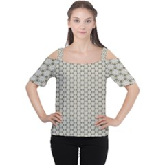 Background Website Pattern Soft Women s Cutout Shoulder Tee