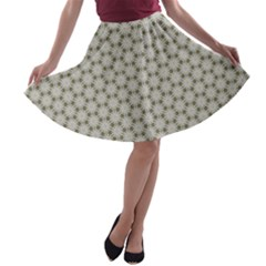 Background Website Pattern Soft A Line Skater Skirt