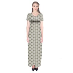 Background Website Pattern Soft Short Sleeve Maxi Dress