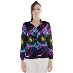 Abstract Art Color Design Lines Wind Breaker (women)