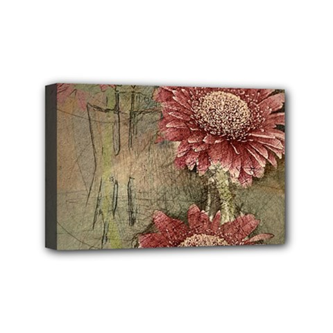 Flowers Plant Red Drawing Art Mini Canvas 6  X 4  by Nexatart