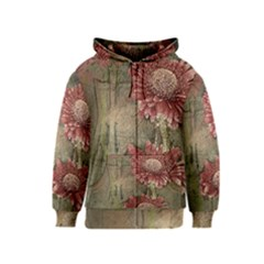 Flowers Plant Red Drawing Art Kids  Zipper Hoodie