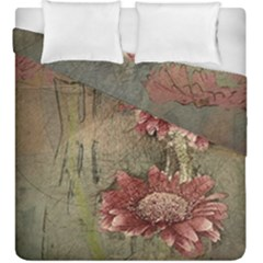 Flowers Plant Red Drawing Art Duvet Cover Double Side (king Size)