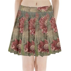 Flowers Plant Red Drawing Art Pleated Mini Skirt by Nexatart
