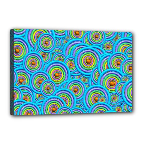 Digital Art Circle About Colorful Canvas 18  X 12  by Nexatart