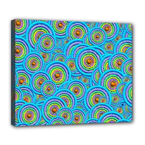Digital Art Circle About Colorful Deluxe Canvas 24  X 20   by Nexatart
