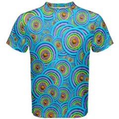 Digital Art Circle About Colorful Men s Cotton Tee
