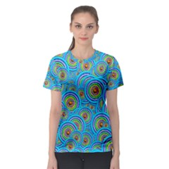 Digital Art Circle About Colorful Women s Sport Mesh Tee