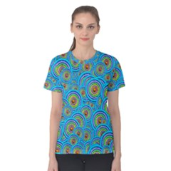 Digital Art Circle About Colorful Women s Cotton Tee