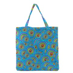 Digital Art Circle About Colorful Grocery Tote Bag