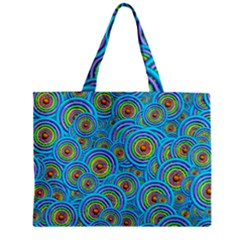 Digital Art Circle About Colorful Zipper Mini Tote Bag