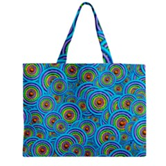 Digital Art Circle About Colorful Medium Tote Bag by Nexatart