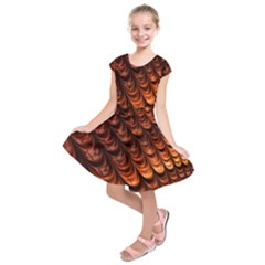 Fractal Mathematics Frax Kids  Short Sleeve Dress