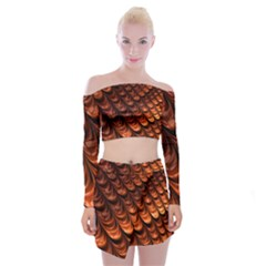 Fractal Mathematics Frax Off Shoulder Top With Skirt Set