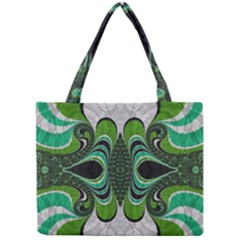 Fractal Art Green Pattern Design Mini Tote Bag