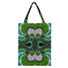 Fractal Art Green Pattern Design Classic Tote Bag
