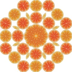Orange Discs Orange Slices Fruit Golf Umbrellas