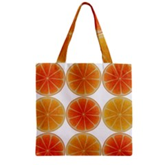 Orange Discs Orange Slices Fruit Zipper Grocery Tote Bag