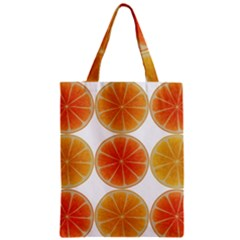 Orange Discs Orange Slices Fruit Zipper Classic Tote Bag by Nexatart