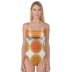 Orange Discs Orange Slices Fruit Camisole Leotard