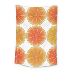 Orange Discs Orange Slices Fruit Small Tapestry by Nexatart