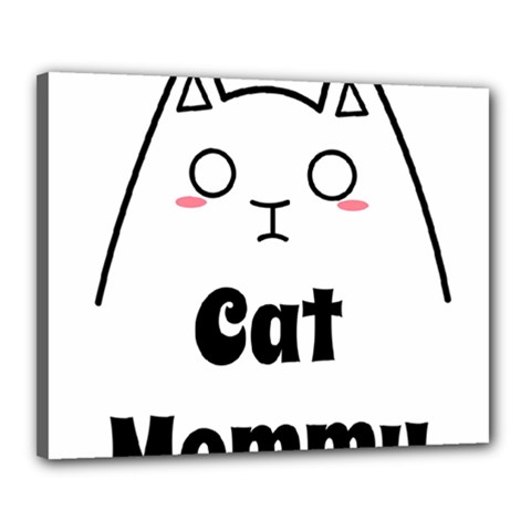 Love My Cat Mommy Canvas 20  X 16  by Catifornia