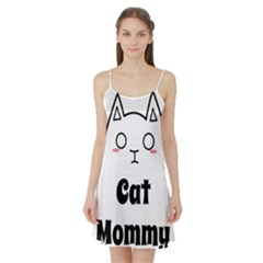 Love My Cat Mommy Satin Night Slip by Catifornia