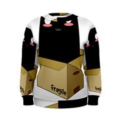 Black Cat In A Box Women s Sweatshirt by Catifornia
