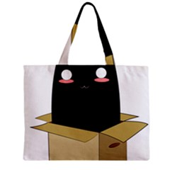 Black Cat In A Box Zipper Mini Tote Bag by Catifornia